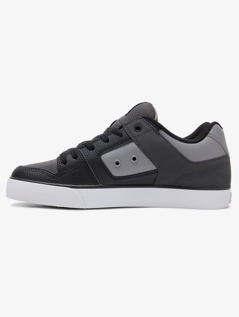 DC Shoes Pure , White, grey and black leather