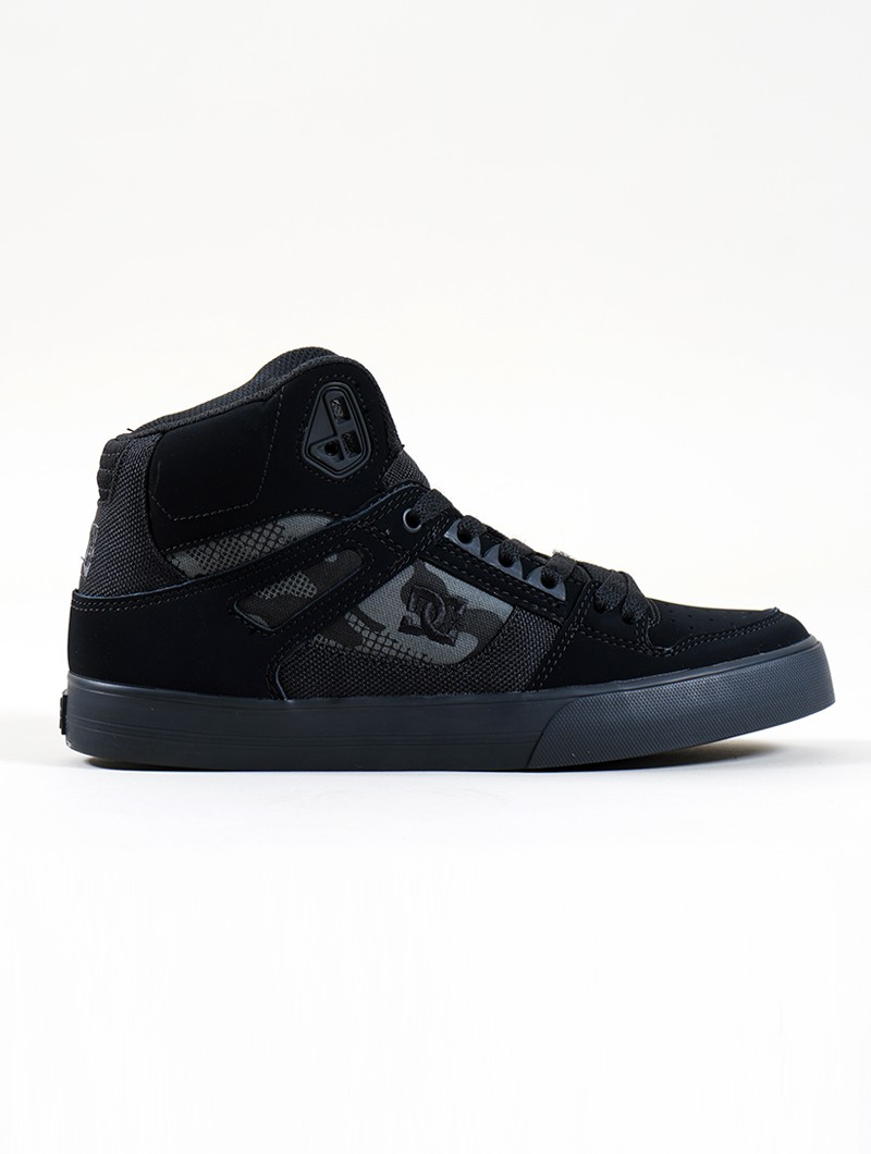 DC Shoes Pure High-Top WC, Black and camo leather