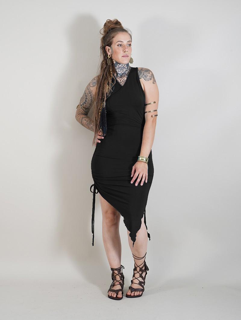 "\""Deepti\"" asymmetric dress, Black"