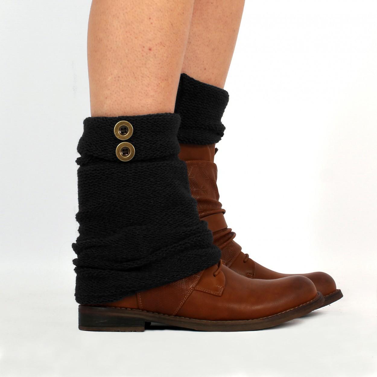 "\""Delyäa\"" legwarmers, Black"
