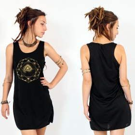 """Dharana\"" dress, Black and Gold"