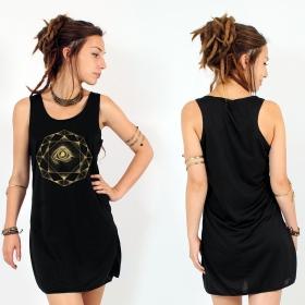 "\""Dharana\"" dress, Black and Gold"