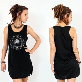 """Dharana\"" dress, Black and Silver"