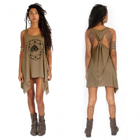 ""\""""Dharana"""" knotted tunic, Brown and black""280|280|?|en|2|11bfa835d52c32ca750e15169593ddac|False|UNLIKELY|0.3133343458175659