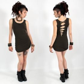 "\""Diamond\"" dress, Dark brown"