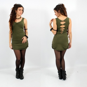 """Diamond\"" dress, Khaki"