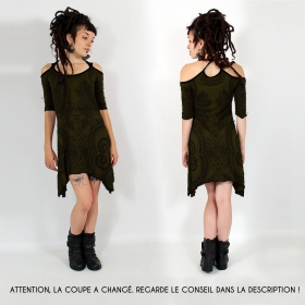 """Diana Paisley"" dress, Khaki"