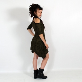 """Diana Paisley\"" dress, Khaki"