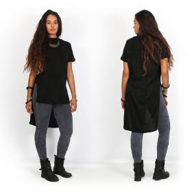 "\""Doli\"" asymmetric t-shirt, Black"