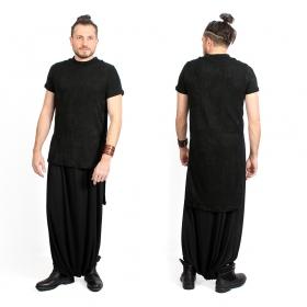 "\""Doli\"" short sleeves asymmetric sweater, Black"