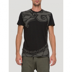 "\""Dragon\"" short sleeves t-shirt, Black"