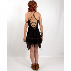 "Dress liloo \\\""nehelenia\\\"", black-brown one size"