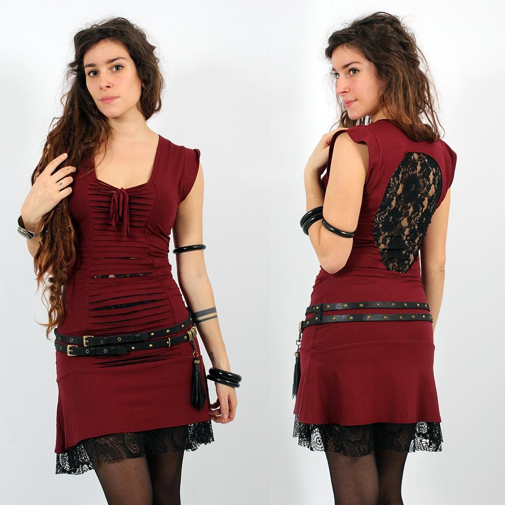 "Dress Liloo Wear \""Jadeite\"", Deepred Black"