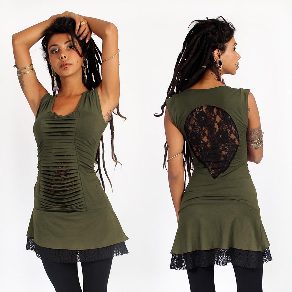 "Dress liloo wear \""jadeite\"", khaki-black"