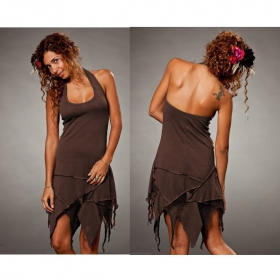 "Dress Luna ""Star backless\"", Brown"