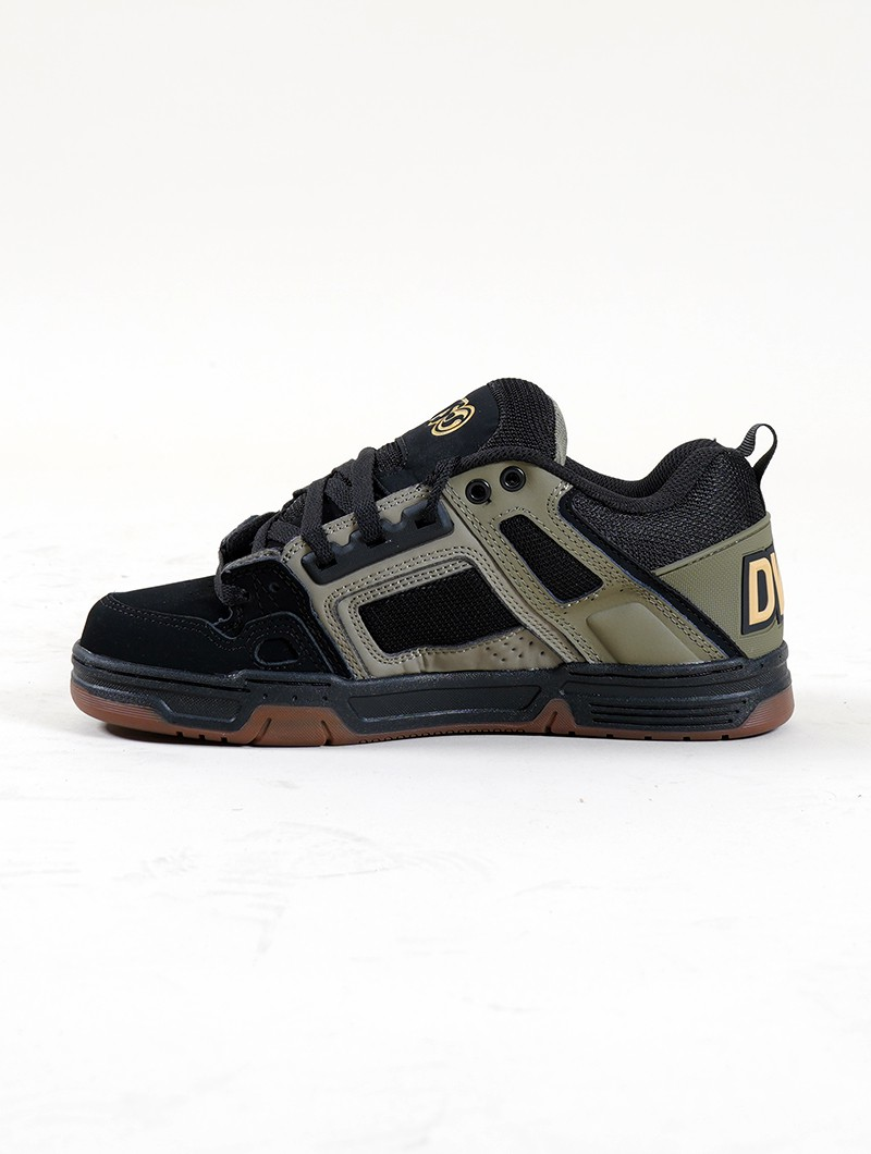 DVS Comanche, Black, beige and khaki leather