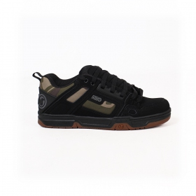 DVS Comanche, Black leather with camo fabric details
