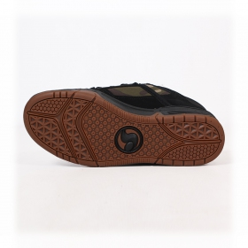 DVS Comanche, Black leather with camo fabric details