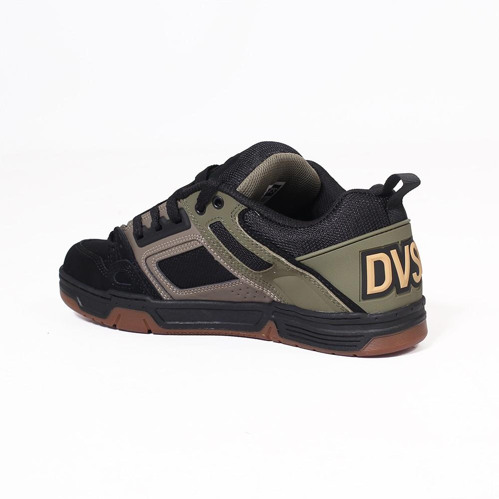 DVS Comanche, Khaki beige and black nubuck leather