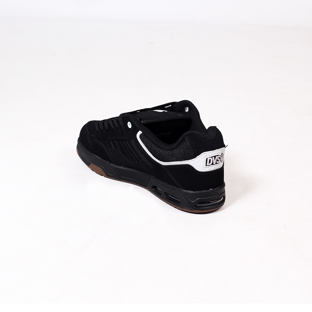 DVS Enduro Heir, Black leather nubuck with white details