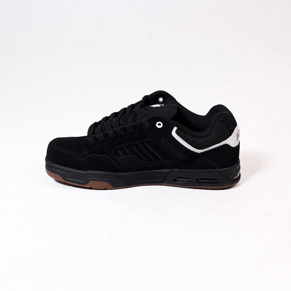 DVS Enduro Heir, Black leather nubuck with white details