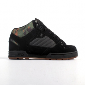 DVS Militia Boots, Black leather and camo details