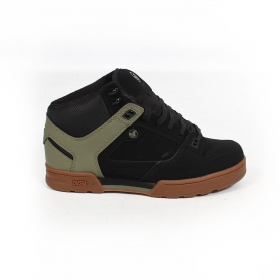 DVS Militia Boots, Black leather with khaki details