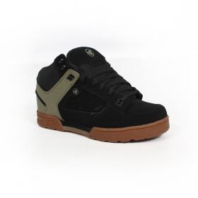 DVS Militia Boots, Black leather with khaki details