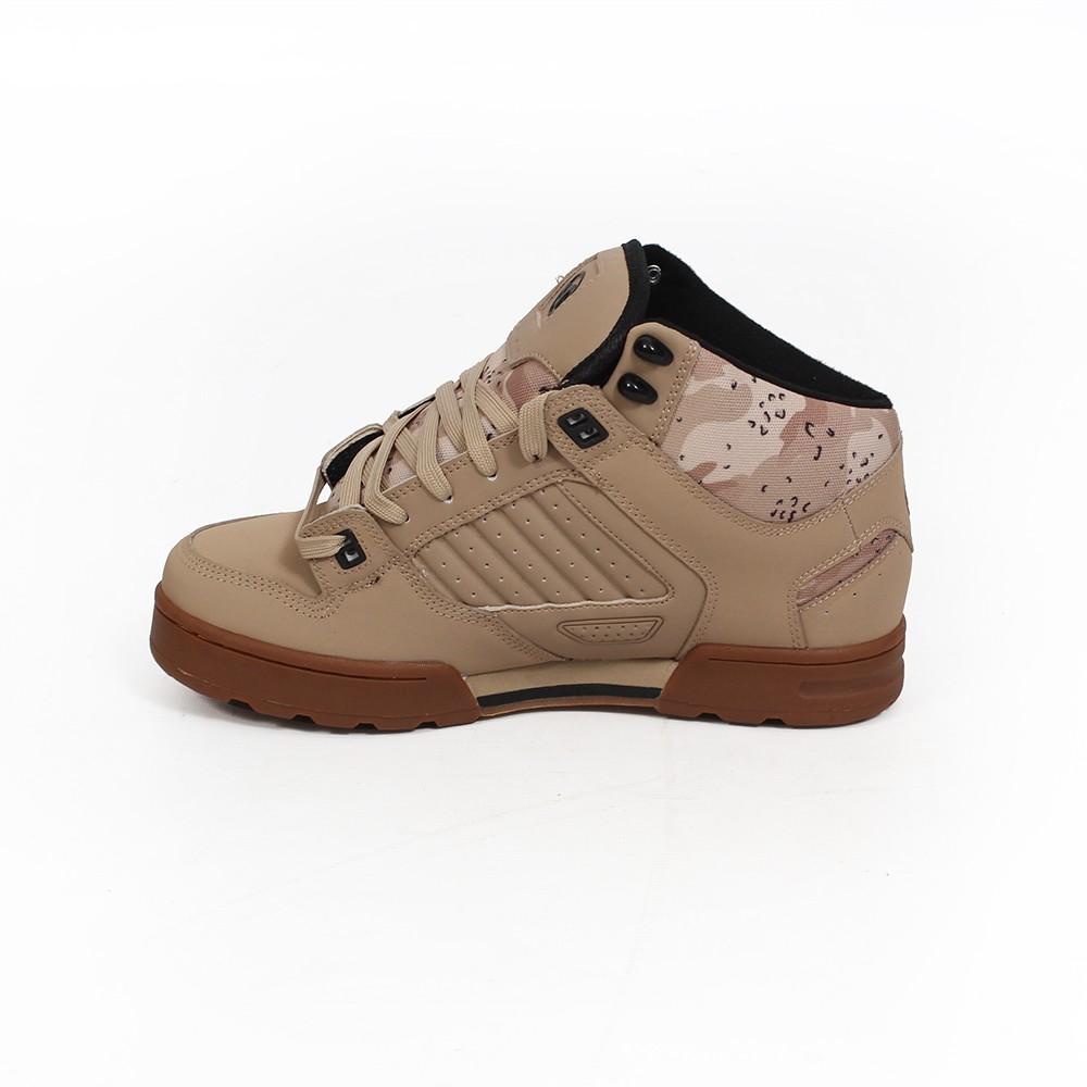 DVS Militia Boots, Camel nubuck leather with camo details