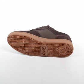 DVS Quentin, Brown suede leather and textile