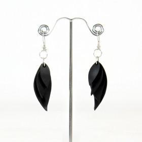 "\""Dyna Flake\\\"" inner tube earrings"