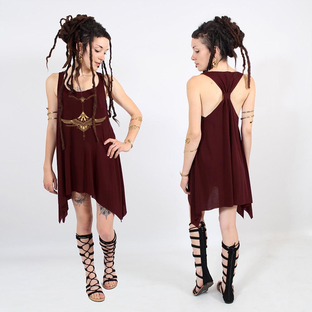 "\""Egypt Bra\"" knotted tunic"