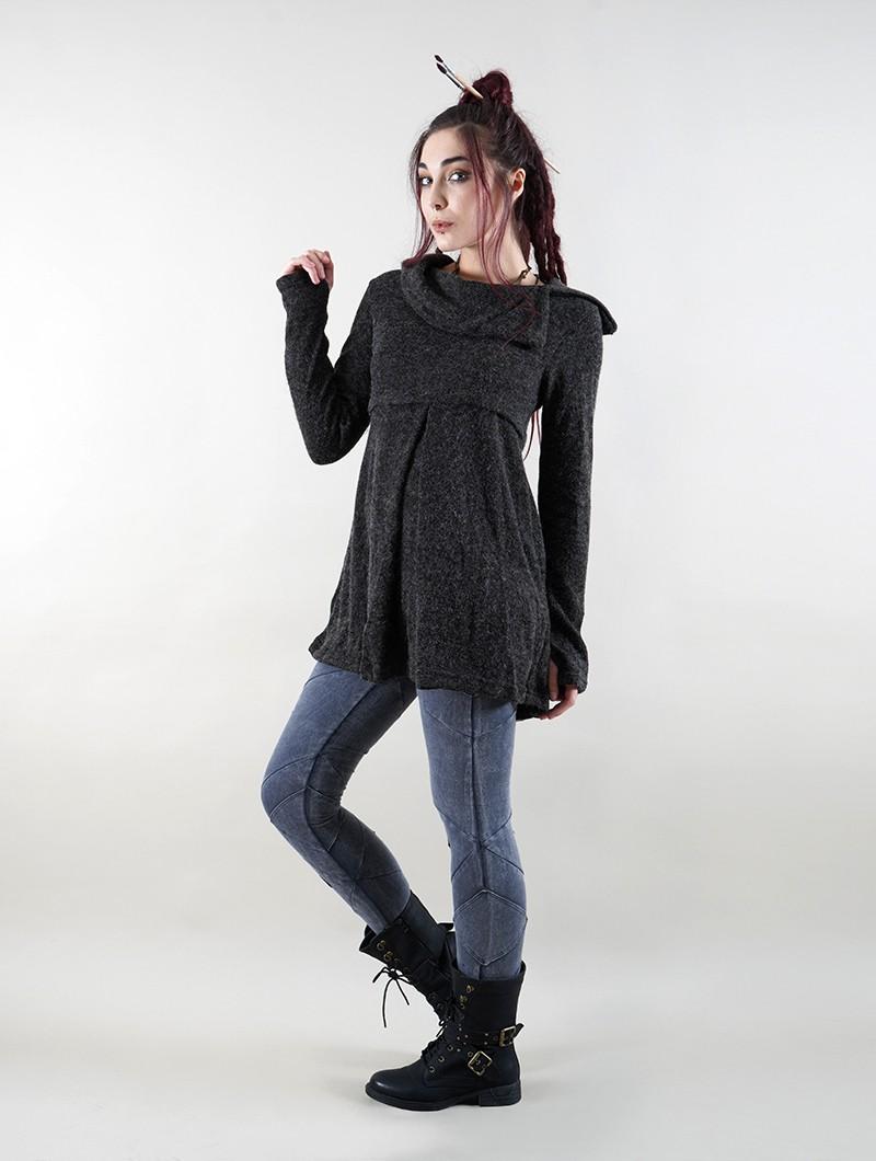 "\""Ekantika\"" tunic pullover, Grey"