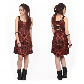 """Electra Africa\"" dress, Black with copper prints"