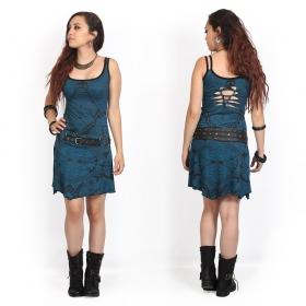 "\""Electra Africa\"" dress, Teal blue"