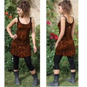 "\""Electra Aztek\"" dress, Golden brown"