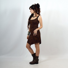 """Electra Paisley\"" dress, Brown"