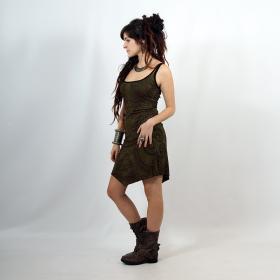 "\""Electra Paisley\"" dress, Khaki"