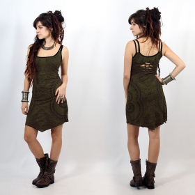 """Electra Paisley\"" dress, Khaki"