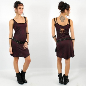 """Electra Paisley\"" dress, Plum"