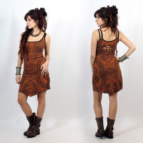 "\""Electra Paisley\"" dress, Rusty"