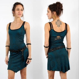 """Electra Paisley\"" dress, Teal"