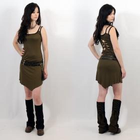 "\""Electra Plain\"" dress, Kaki"