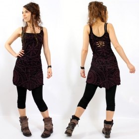 "\""Electra Polynesian\"" dress, Plum"