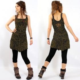 "\\\""Electra Polynesian\\\"" Gadogado dress, Khaki"