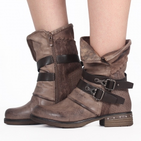 """Elenwë\"" boots, Taupe"