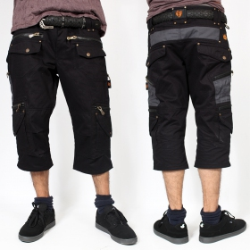 """Elipse\"" 3/4 shorts, Black"