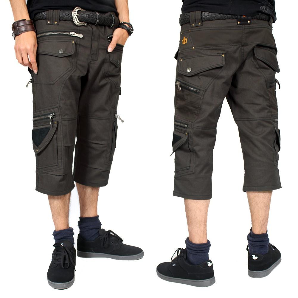 "\""Elipse\"" 3/4 shorts, Dark grey"