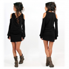"""Elixir\"" pullover dress, Black"