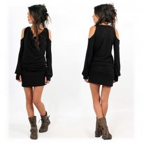 "\""Elixir\"" pullover dress, Black"